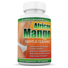 Load image into Gallery viewer, African Mango Gentle Cleanse Total Detox Cleanse Fortified with Flax Seed Aloe and Acidophilus Diet Weight Loss 60 Capsules Per Bottle