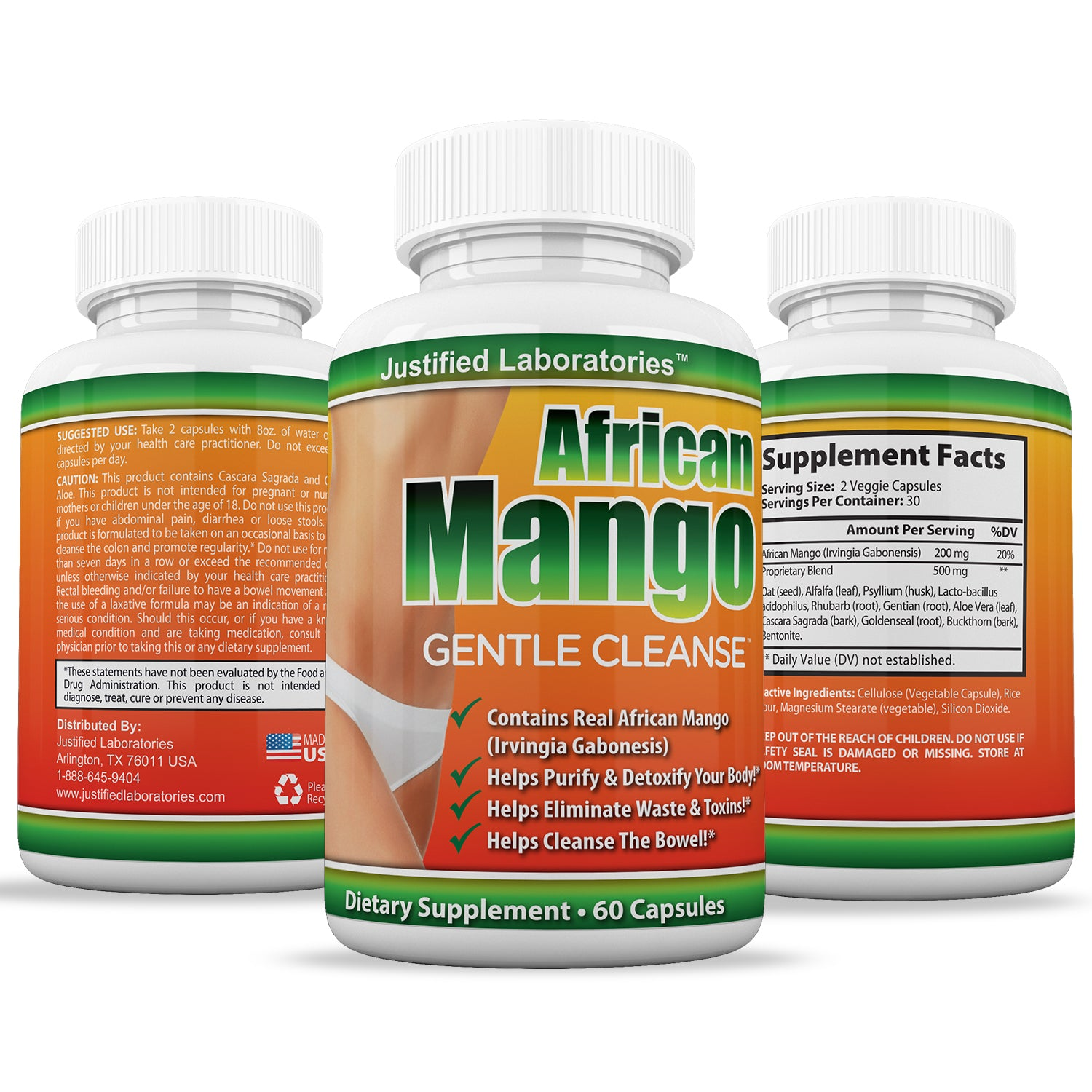 African Mango Gentle Cleanse Total Detox Cleanse Fortified With