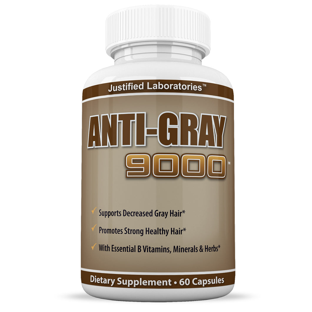 Anti Gray Hair 9000 Assist In Restoring Natural Hair Color and Helps Reduce Gray Hair 60 Capsules