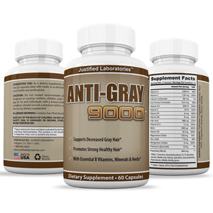 Anti Gray Hair 9000  Assist In Restoring Natural Hair Color and Helps Reduce Gray Hair