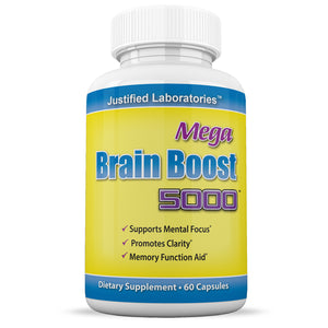 Mega Brain Boost 5000 Nootropic Improve Focus Memory Stimulate Mind