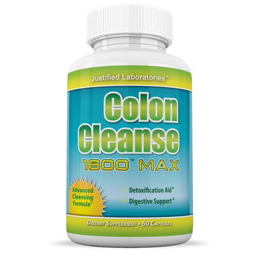 Colon Cleanse 1800 Max Weight Loss Detox Cleanse All Natural with Acai Fruit and Fennel Seeds 60 Capsules Per Bottle