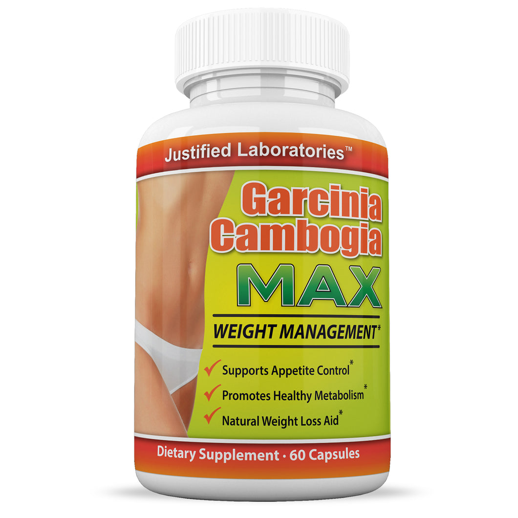 Garcinia Cambogia Max 60% HCA Weight Management Appetite Suppressant Diet Wight Loss 60 Capsules Per Bottle