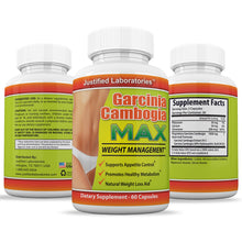 Load image into Gallery viewer, Garcinia Cambogia Max 60% HCA Weight Management Appetite Suppressant Diet Wight Loss 60 Capsules Per Bottle