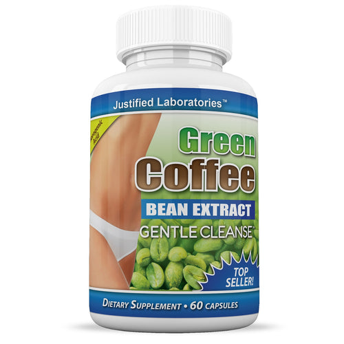 Pure Green Coffee Bean Extract Gentle Cleanse Detox Weight Loss 60 Capsules
