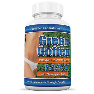 Pure Green Coffee Bean Extract 800mg 50% Chlorogenic Acid 60 Capsules