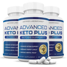 Load image into Gallery viewer, Advanced Keto Pills Plus Ketogenic Supplement Includes goBHB Exogenous Ketones Ketosis Support for Men Women 60 Capsules