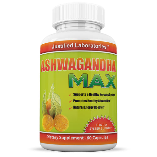 Organic Ashwagandha Root Powder with Black Pepper Nervous System Support