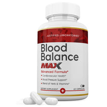 Load image into Gallery viewer, Blood Balance Advanced Max Formula All Natural Blood Pressure Sugar Glucose Support Supplement Pills 60 Capsules