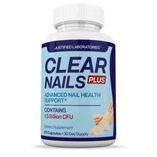 Load image into Gallery viewer, Clear Nails Plus 1.5 Billion CFU Probiotic Pills Supports Strong Healthy Natural Nails Plus 60 Capsules