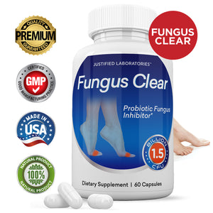 Fungus Clear 1.5 Billion CFU Probiotic Pills Supports Strong Healthy Natural Clear Nails Plus Eliminates Fungus 60 Capsules