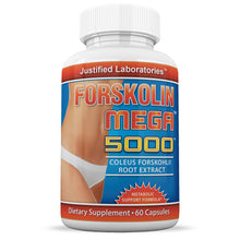 Load image into Gallery viewer, Pure Forskolin Mega 5000 20% Coleus Forskohlii Root Extract All Natural Fat Burner
