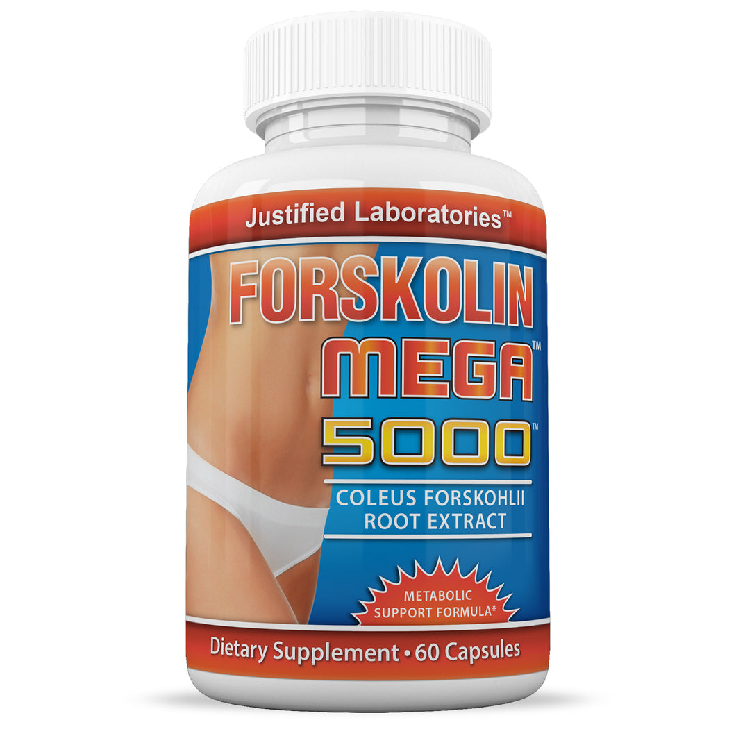 Pure Forskolin Mega 5000 20% Coleus Forskohlii Root Extract All Natural Fat Burner