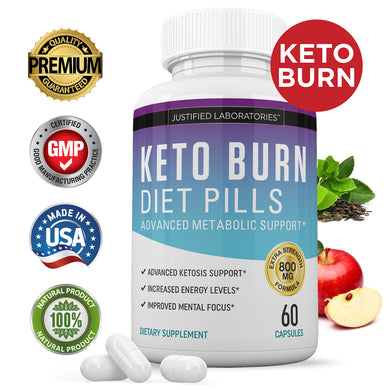 Keto Burn Diet Pills BHB Salts Advanced Weight Loss Ketogenic Supplement Exogenous Ketones Boost Metabolism