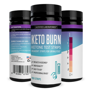 Keto Test Strips Testing Ketosis Levels on Low Carb Ketogenic Diet 100 Urinalysis Strips