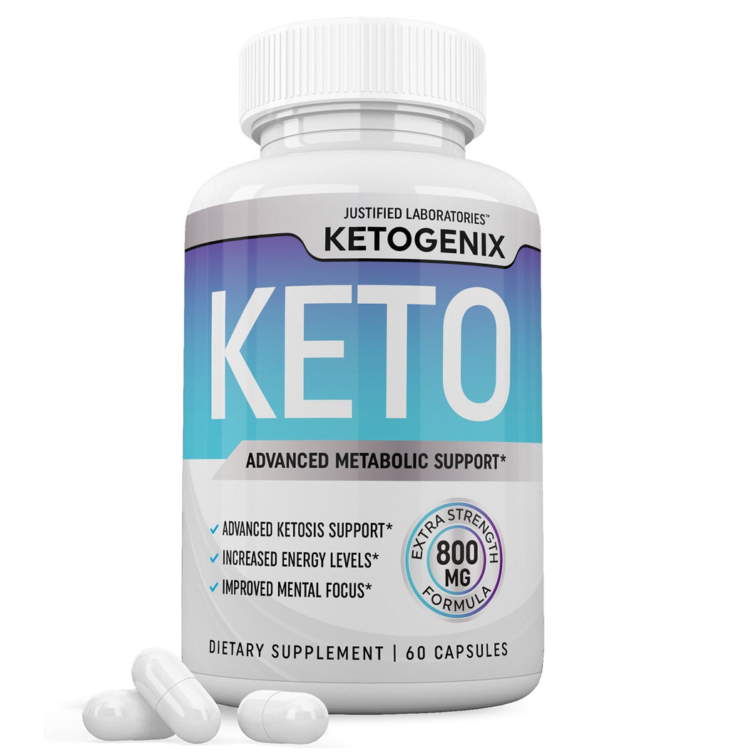Ketogenix Keto Pills Ketogenic Supplement Includes goBHB Exogenous Ketones Advanced Ketosis Support for Men Women 60 Capsules