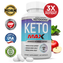 Load image into Gallery viewer, Ketogenix Max 1200mg Keto Pills Ketogenic Supplement Includes goBHB Exogenous Ketones Apple Cider Vinegar Macadamia Nut Oil and Green Tea Advanced Ketosis Support for Men Women 60 Capsules 1 Bottle