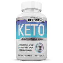Load image into Gallery viewer, Ketogenix Keto Pills Ketogenic Supplement Includes goBHB Exogenous Ketones Advanced Ketosis Support for Men Women 60 Capsules