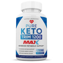 Load image into Gallery viewer, Pure Keto Trim 1200 Max 1200MG Keto Pills Advanced BHB Ketogenic Supplement Exogenous Ketones Ketosis for Men Women 60 Capsules 1 Bottle
