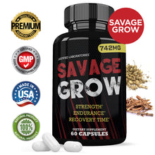 Load image into Gallery viewer, Savage Grow Increase Strength Endurance Recovery Time 60 Capsule