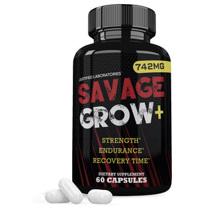 Savage Grow Increase Strength Endurance Recovery Time 60 Capsule