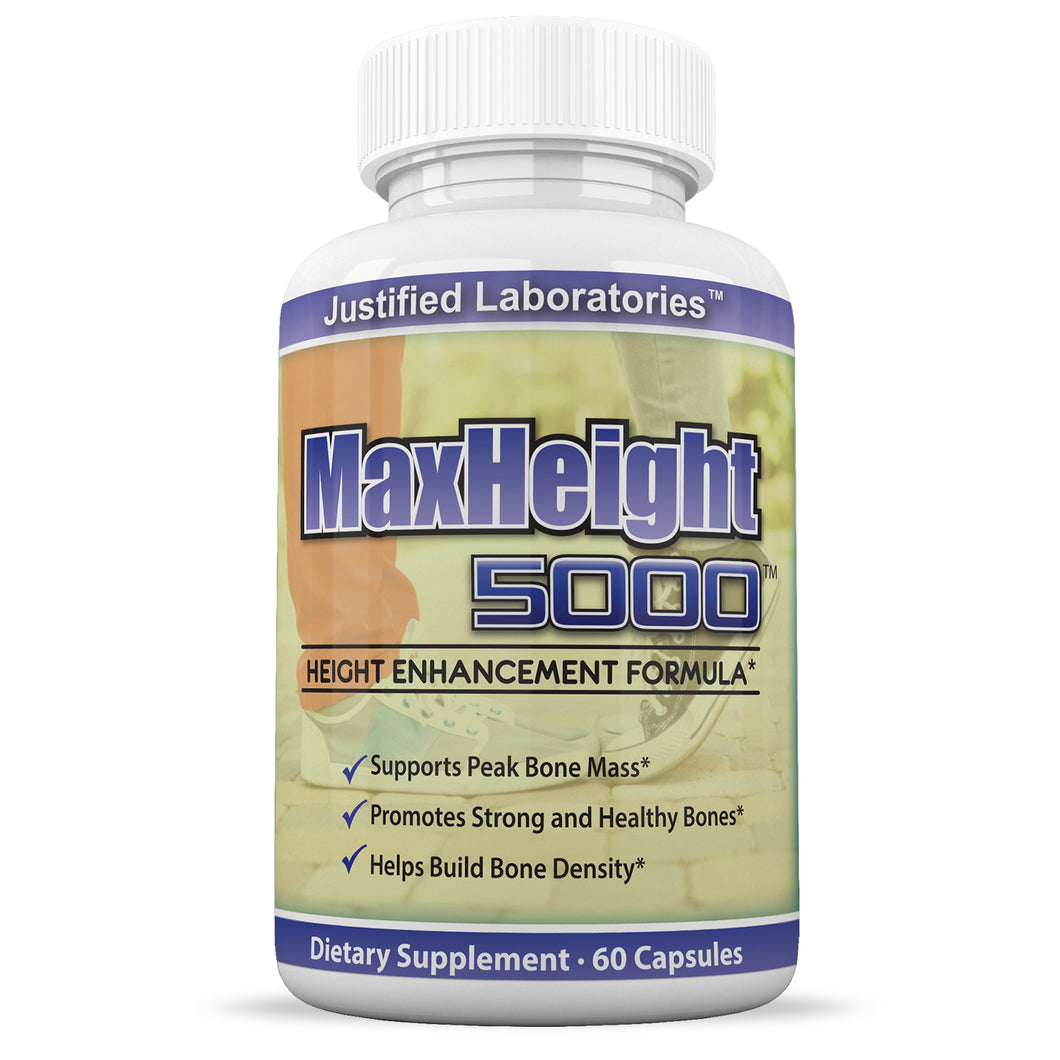 MaxHeight 5000 Height Enhancement Growthmax Grow Height Taller Supplement Pills