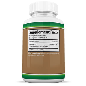 Pure Yacon Root Appetite Suppressant Healthy Digestion Syrup Alternative 60 Caps