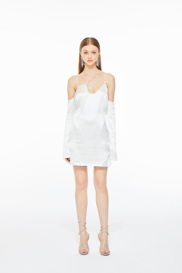 Alissa Cold Shoulder Dress White