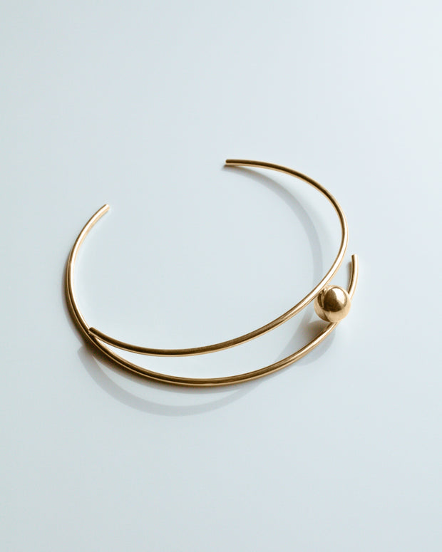 Gold Sputnik Collar Necklace