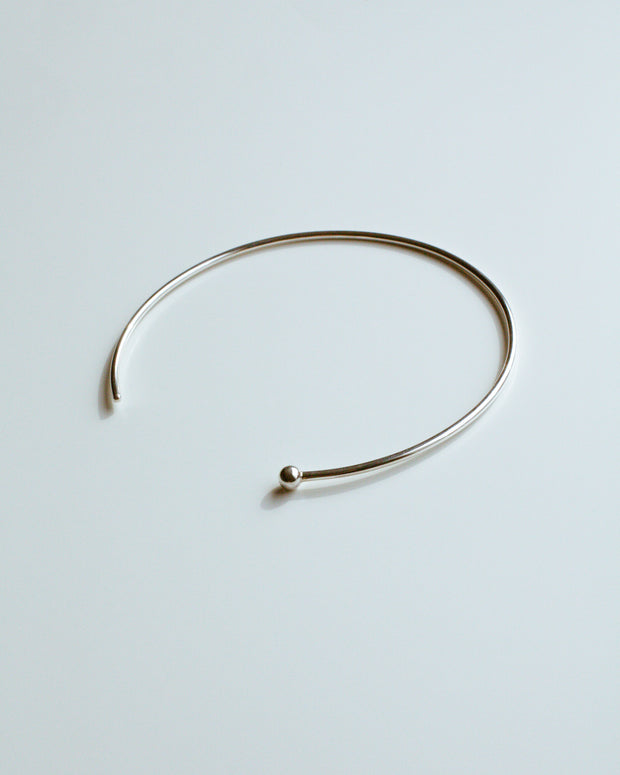 Silver Single Ball Choker Necklace