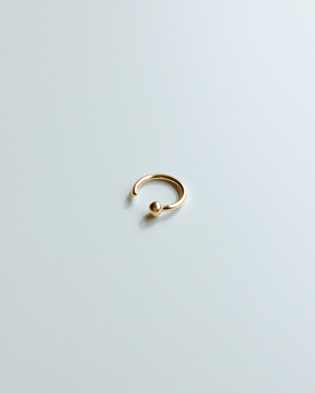 Gold Single Ball Ring