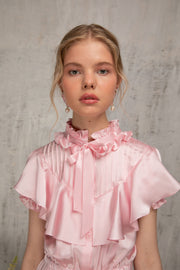 Silk Dress With Ruffles