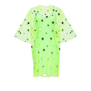 T-Shirt Dress Mirror Splash Neon Lime