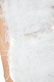 Mini Dress Feather Splash