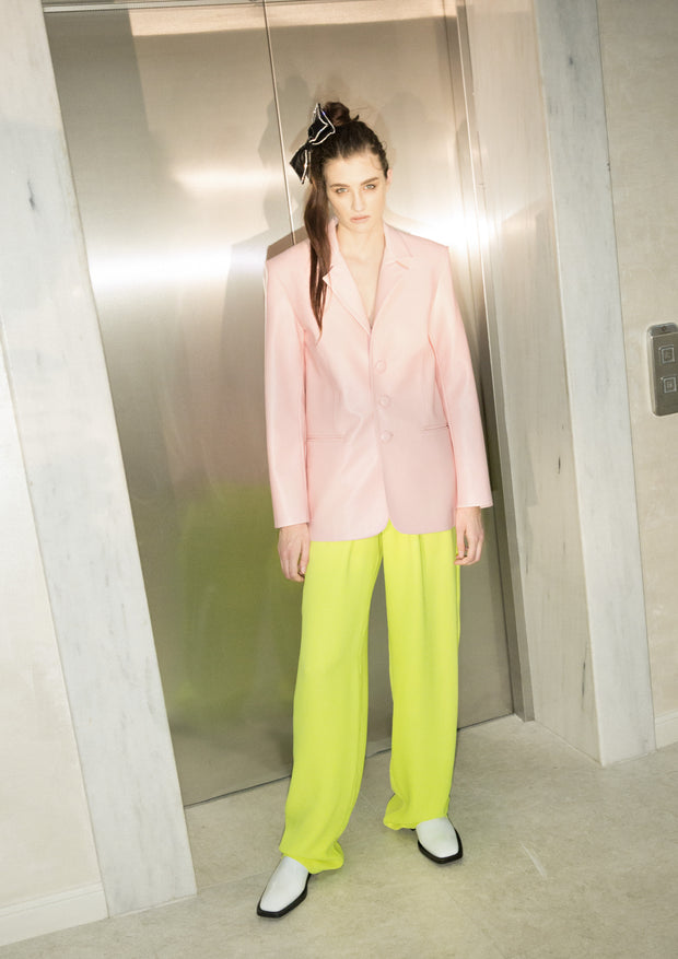 High Waist Neon Trousers