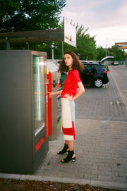 Color-Blocked Skirt