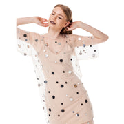 T-Shirt Dress Mirror Splash Nude