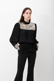 Embellished Black Shirt