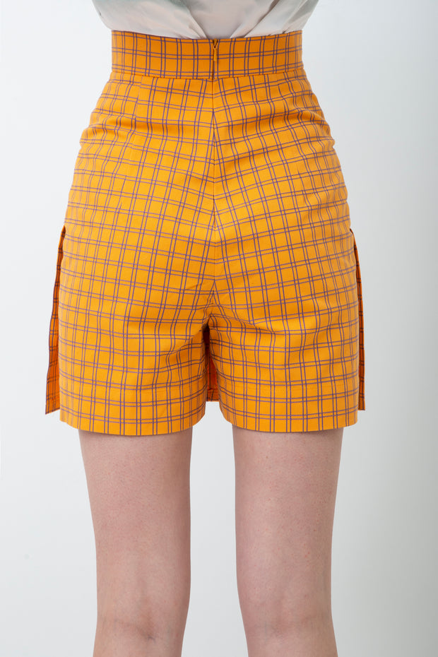 Checked Cotton Skirtshort