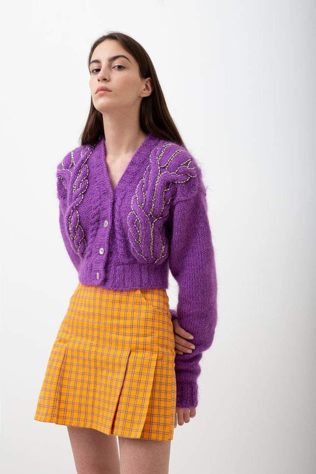 Purple Knitted Jacket