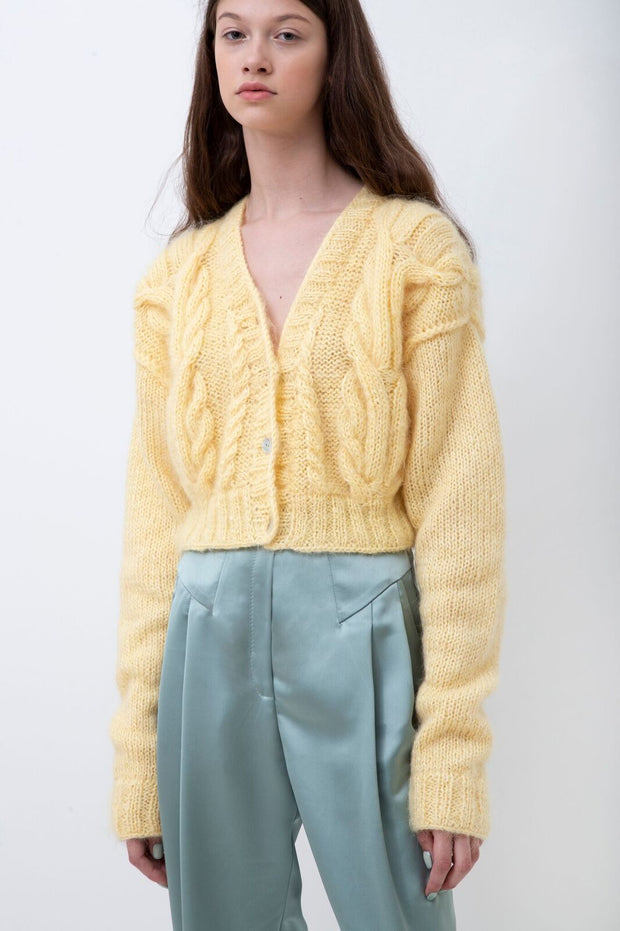 Knitted Yellow Jacket