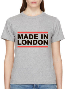 "Grey T-shirt ""Made in London"""
