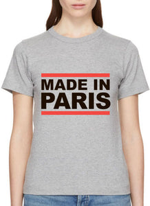 "Grey T-shirt ""Made in Paris"""