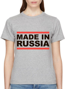 "Grey T-shirt ""Made in Russia"""