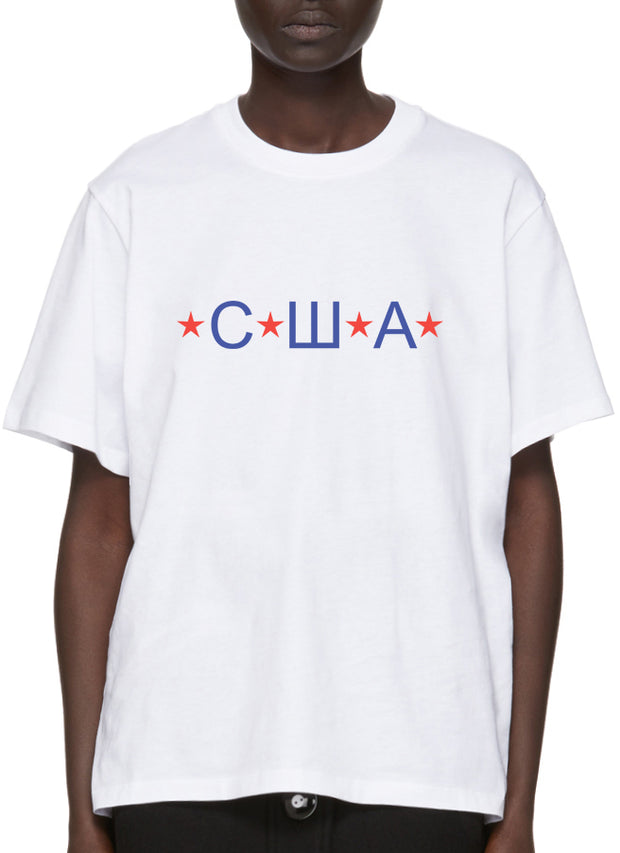 """USA"" White T-Shirt"