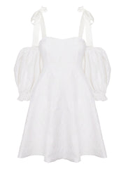 Mini Baby-Doll Tafetta Dress