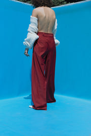 Burgundy Wool Pants