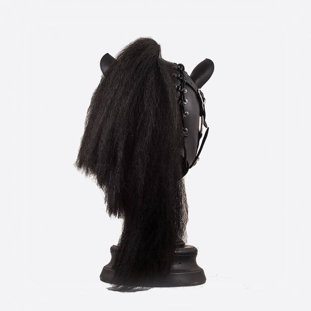 Black Horse Pony Mask with Bridle