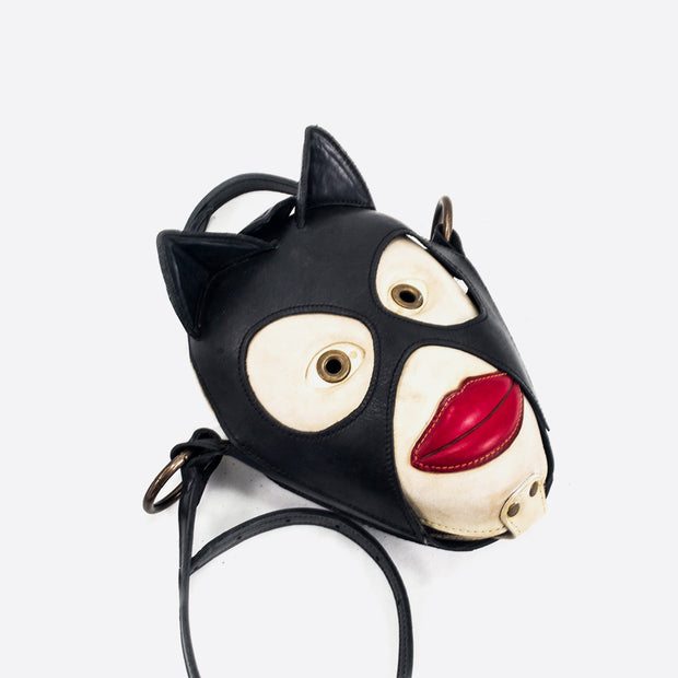 Cat Woman Leather Handbag