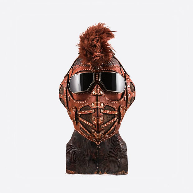 Ginger Mohavk Art Leather Mask
